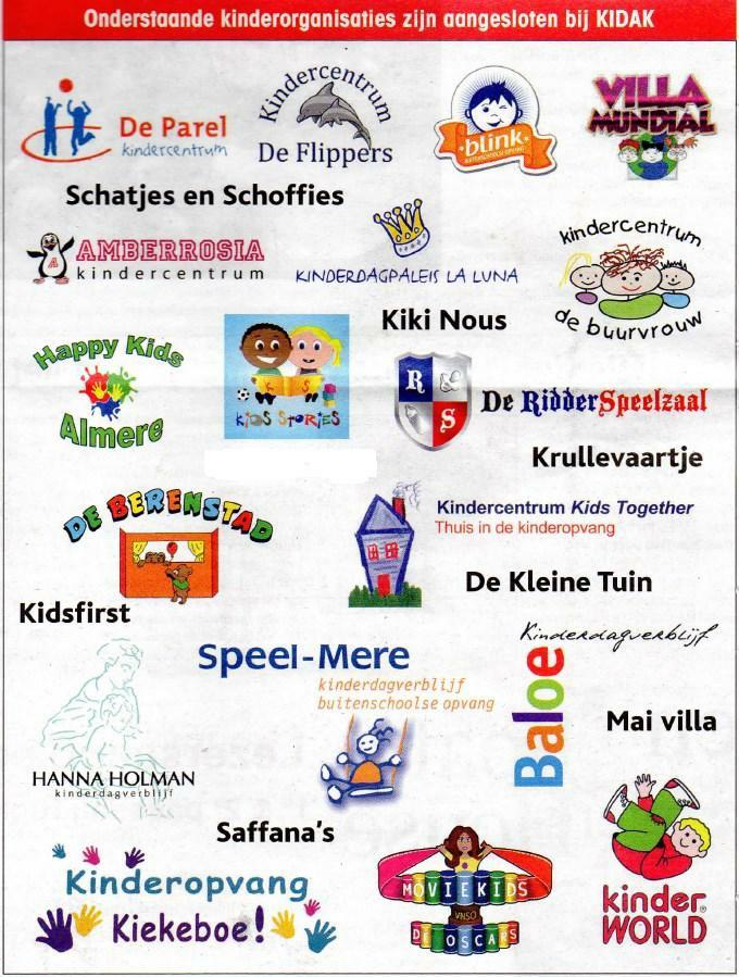 09-03-2016 Onderstaande kinderorganisaties zijn aangesloten bij KIDAK-krantenknipsel-1