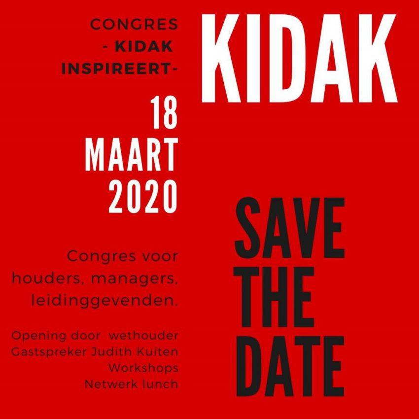 Save the Date Kidak Congres 18 maart